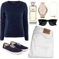 A fashion look from February 2013 featuring H&M sweaters, Abercrombie & Fitch jeans and Flossy sneakers. Browse and shop related looks.