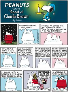 "Schulz's classic ""Peanuts"" looks at the lives of Charlie Brown, Snoopy, and other favorite characters. Snoopy Comics, Snoopy Cartoon, Peanuts Cartoon, Peanuts Gang, Peanuts Comics, Charlie Brown Comics, Charlie Brown And Snoopy, Charles Shultz, Snoopy Christmas"