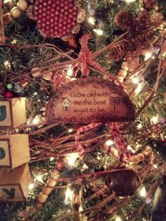 One of my favorite ornaments on my country primitive decorated Christmas tree