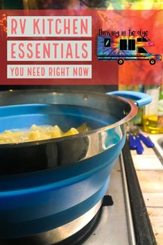 Do you live in an RV, Van or Tiny House? Or maybe you just have a tiny kitchen? Do you live in an RV, Van or Tiny House? Or maybe you just have a tiny kitchen? After 5 months of full time RV living, I've come up with a list of all Camping Essentials, Kitchen Essentials, Camping Hacks, Camping Cot, Camping Recipes, Camping Cooking, Rv Hacks, Camping Supplies, Camping Meals