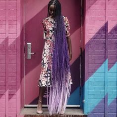 "1,533 Likes, 45 Comments - HAIR | LIFE & STYLE | TRAVEL (@shopcatface) on Instagram: ""Purple medley ✨✨ #boxbraids #braids"""