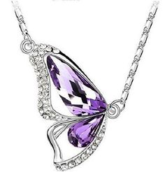 18k PURE WHITE GOLD Plated Purple AUSTRIAN CRYSTAL Butterfly Necklace Crystal Wings CrystalGemsStore http://www.amazon.co.uk/dp/B00XPT6W4G/ref=cm_sw_r_pi_dp_k49bwb13KAF5D