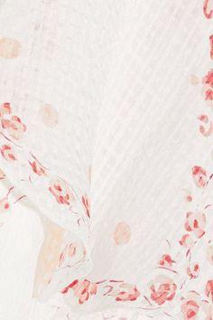 Vilshenko - Maya Convertible Floral-print Silk-jacquard Midi Dress - White - UK6