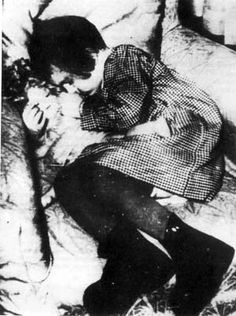 Little Jewish girl asleep at Drancy, shortly before her deportation to death camp and died in gas chamber