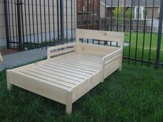 Traditional Toddler Bed with a few changes | Do It Yourself Home Projects from Ana White