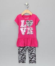 I just love zebra stripes on kids clothes!