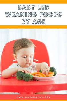 You've been told baby led weaning is the way to go, but how do you know when to start and what age babies can try different foods? Keep reading to learn what BLW is, how to know when your baby is ready, and get a complete list of first foods to try at 6 months, 8 months, 10 months, and 12 months +, as well as how to introduce common allergy foods. #babyledweaning #firstfoods #firstfingerfoods #startingsolids #babyweaningtips Baby Led Weaning Breakfast, Baby Led Weaning First Foods, Weaning Foods, Baby First Foods, Baby Weaning, Feeding Baby Solids, Homemade Baby Snacks, Baby Feeding Schedule, Baby Puree