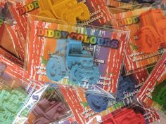 12 Individual Tractor Crayon Packs, Kids Party Favour, Party Favours