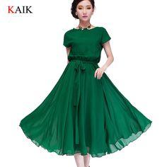 summer dresses for women Maxi | ladies Summer Dresses 2015 Women Casual chiffon maxi Dress Party plus ...