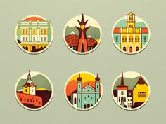 Town Badges designed by OreskovicDesign. Connect with them on Dribbble; the global community for designers and creative professionals. Map Design, Travel Design, Print Design, Design Web, Flat Design Icons, Icon Design, Badges, City Logo, City Icon