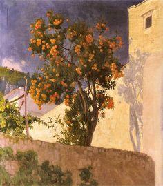 Edward Okuń. Pomarańcze i cytryny   1928. Olej na płótnie. 94 x 84 cm.    Muzeum Narodowe w Warszawie