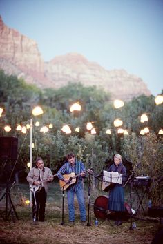lighting for the yard...and a band...that looks fun!