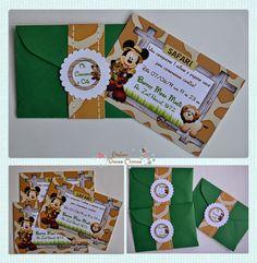 Mickey Safari para comemorar o 1º aninho do Gui     Convites        Saquinhos para as guloseimas       Rótulos para tic tac       Rótulos ...