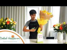 Hướng dẫn tự kết bó hoa hồng đẹp và đơn giản - Thuy Tien Flower - YouTube
