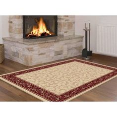 Bliss Rugs Wexford Transitional Area Rug, Red