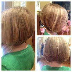 Girl short hair