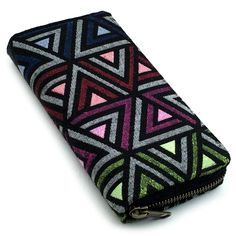 Tribalover Wallet Clutch Purse Handmade Credit Card Wallet YKK Zipper (Medium, Violet, Ruby, Green, Denim). 8 credit card slots!!. 4 big pockets for cash, papers, coupons, checkbook, passport etc. Big enough to fit an iPhone or a Samsung Galaxy phone EASILY!. Middle Zippered coin pouch that is easily accessible. **Please Note - All of my work is handmade. No two pieces are identical and that's part of the charm of handmade work. There could be some minor variations in appearance from what…