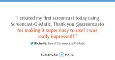 Screencast-O-Matic makes it easy to create screencasts! Get started for free. Screen Recorder, Create, Easy