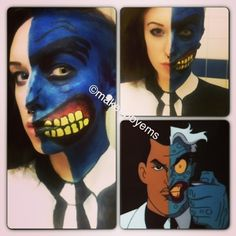 two face batman look. great work! I remember that character ha!