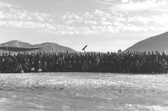 March 21, 2016: @ ddbeebe - The 175-people cast and crew of The Snowman 2nd Unit (Rjukan) wraps on an ice lake in Norway  the day before they left Tin. #TheSnowman #OnSet