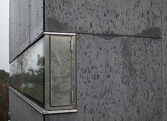 EQUITONE facade panels corner detail. arch: Knut Hjeltnes. Equitone.com