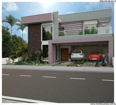 Planta de sobrado - 5 quartos - 322.06m² - Monte Sua Casa