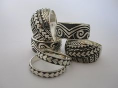 Love these Maori design rings!  Perfect for the bride or groom! Find them at Seventy Six Design in New Zealand.