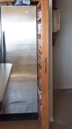 Great use of tiny spaces for tons of storage (canned goods!)