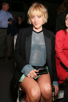 I love Chloe Sevigny's tousled short hair!
