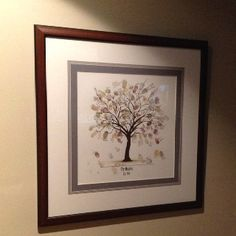 Our wedding tree guest book