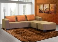 A modern corner lounge suite that shows there is beauty in affordability. Corner Couch, Lounge Suites, First Apartment, Scatter Cushions, Be Perfect, Family Room, Ottoman, Colour, Chocolate