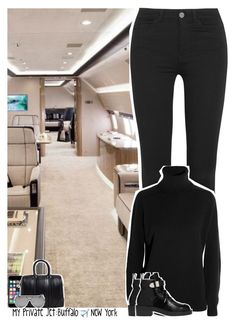 """Celebrity Life: My Private Jet: Buffalo ✈️ New York City"" by jhessicakauana ❤ liked on Polyvore featuring Off-White, Givenchy, M.i.h Jeans, Yves Saint Laurent and Balenciaga"
