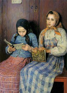 Schoolgirls,  Nikolai Petrovitch Bogdanov-Belsky.  Russian (1868–1945)