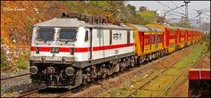 What colors! Howrah - Dhanbad AC Double Decker Express headed by HWH WAP7 #30305