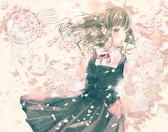 Pretty Anime Girl, Kawaii Anime Girl, Anime Art Girl, Anime Girls, Anime Girl Brown Hair, Brown Eyes Black Hair, Manga Anime, Manga Art, Chibi