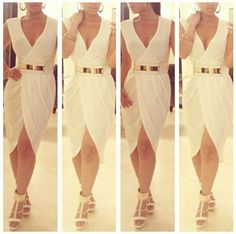 LIMITED EDITION WHITE BELTED WRAP DRESS