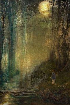 'Der Wanderer' von Marie Luise Strohmenger bei artflakes.com als Poster oder Kunstdruck $19.41