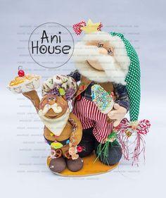 Cornish Pixie, Christmas Fabric, Fabric Decor, Fun Crafts, Christmas Decorations, Teddy Bear, Xmas, Papa Noel, Handmade Crafts