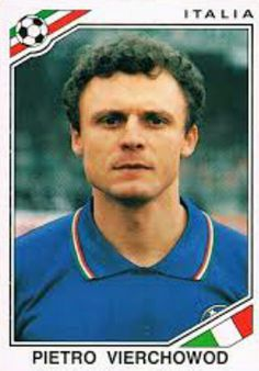 Pietro Vierchowod of Italy. 1986 World Cup Finals card.