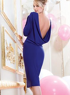Drape-back Dress