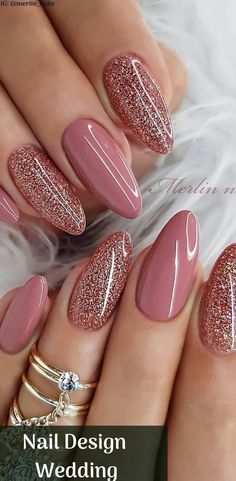 Nail Design Wedding sparkly nails great for valentines day w.- Nail Design Wedding sparkly nails great for valentines day with Beautiful Design with Pink color and Glitter Nails Picture Credit - Cute Acrylic Nails, Acrylic Nail Designs, Cute Nails, Nail Art Designs, Elegant Nail Designs, Glitter Nail Art, Sparkly Nail Designs, Elegant Nail Art, Diy Wedding Nails