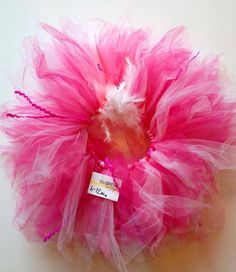 Hot pink, bubble gum, white childrens infant tutu size 6-12 months on Etsy, $35.00