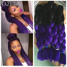 Hair Extensions & Wigs Ambitious Razeal 24inch Pure Color 100g Synthetic Jumbo Braid African Style Long Hair Kanekalon Crochet Braiding Hair