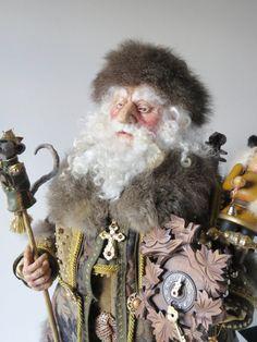 Santa Doll, Nutcracker Santa, ooak Handcrafted by artist Walt Carter