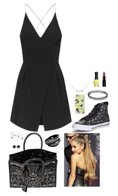 """i've never so adored you, i'm twisting allegories now"" by sophia-etr ❤ liked on Polyvore featuring Topshop, Converse, Isaac Mizrahi, Yves Saint Laurent, ORLY, Smashbox, women's clothing, women, female and woman"
