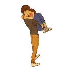 How nice to be in your arms Como é bom estar em seus braços by Puuung Cute Love Stories, Love Story, Puuung Love Is, Character Art, Character Design, Love Cartoon Couple, Couples Comics, Couple Illustration, Couple Drawings