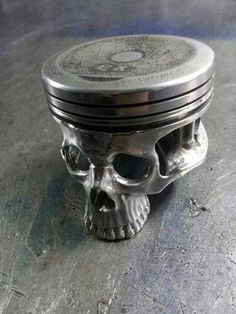 Love the use of a piston! Mu husband made ashtrays out of pistons out of a Dodge 289 that he threw a rod in. Nothing like recycling! Lol