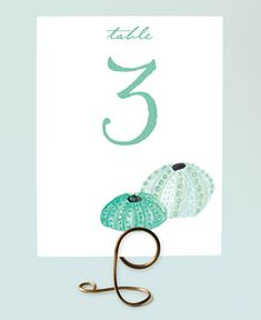 Printable Table Numbers  Beach Wedding by LeveretPaperie on Etsy