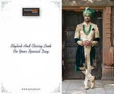 Grooms don't worry we have the latest and designer collection stored for you. Be it wearing a traditional sherwani for a wedding, tuxedo for engagement that will surely make you look handsome on your wedding day. Mens Sherwani, Wedding Sherwani, How To Look Handsome, How To Look Classy, Wedding Wear, On Your Wedding Day, Grooms, Stylish Men, Don't Worry