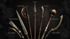 Weapons from Assassin's Creed Origins